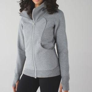 Grey heathered lululemon jacket/sweater